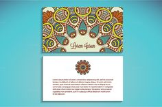 5 Business card in ethnic style by ViSnezh on @creativemarket