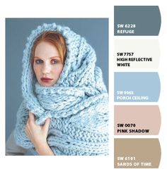 ‿✿⁀ Woman wrapped in blue knit blanket ‿✿⁀ ColorSnap by CNH