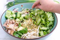 Avocado Tonijnsalade – Nadia's Healthy World New Recipes, Salad Recipes, Food Inspiration, Cobb Salad, Healthy Lifestyle, Salads, Good Food, Food And Drink, Easy Meals