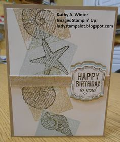 Stamp Club card using Stampin' Up! stamp set, By the Seashore