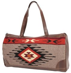 """El Paso Designs Extra Large Tote Bag, Woman's. Zapotec & Mayan Designs, Hand Crafted wool, """"Sturdy, colorful, and roomy. I used it to travel to a music festival recently, and it was a pretty bag that hid all my extras that didn't fit in the bigger (basic black) bag."""""""