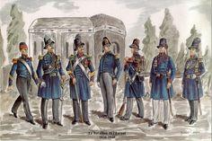 Les Carabinierss Les planches uniformologiques de Robert Aubry