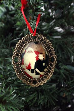 Vintage Custom Photo Ornament  Personalized by jerseymaids on Etsy, $32.00