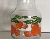 Vintage Orange Juice Carafe, Large Size, Perfect for Family Breakfasts