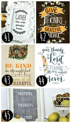 65 Fall Printables! So many great printables for Thanksgiving and more!