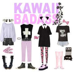 """♡ PASTEL PUNK ♡"" by bloodbuzz on Polyvore"