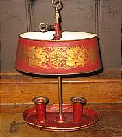 Antique French Tole Bouillotte Lamp