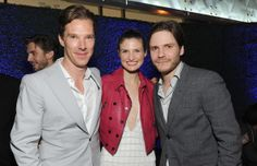 Benedict Cumberbatch, Daniel Bruehl and model Felicitas Rombold at the BAFTA Tea party 11.01.14