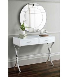 Best Of White Mirrored Bedside Table