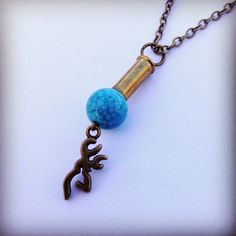 Bullet Necklace-Country Gypsy Girl Wear Turquoise by stinkncutemj