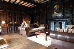 Castle reception room with ornate fireplace Grand Homes, Reception Rooms, Home And Family, Castle, Couch, Canning, Bedroom, Places, Interior