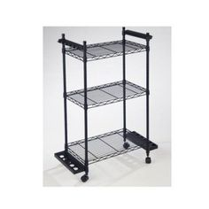 Organized Fishing Wire Tackle Trolley, Black
