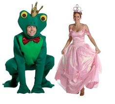 Halloween Costumes for Couples - Halloween Costumes 2013 - Princess & The Frog Pair Halloween Costumes, Duo Costumes, Purim Costumes, Clever Costumes, Couple Halloween, Halloween 2013, Halloween Ideas, Frog Costume, Great Costume Ideas