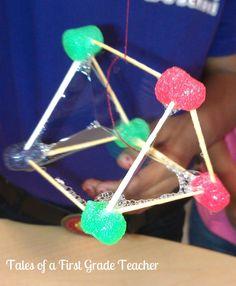 Better than marshmallows for sure! Making pyramids for Egypt. Teaching Geometry, Teaching Math, Teaching Ideas, 3d Shapes Activities, Math Activities, Math Classroom, Kindergarten Math, Classroom Ideas, Math School