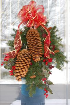 christmas crafts with pine cones   Large Pine Cone Craft   CHRISTMAS!!