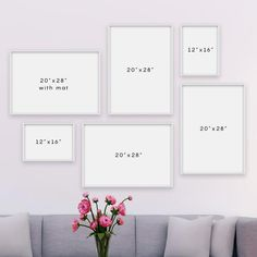 Gallery Wall Bedroom, Gallery Wall Layout, Gallery Wall Frames, Frames On Wall, Photo Wall Layout, Photo Gallery Walls, Framed Wall Art, Canvas Wall Decor, Frame Wall Decor