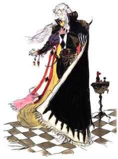 Final Fantasy VI  Setzer Gabbiani  Yoshitaka Amano concept