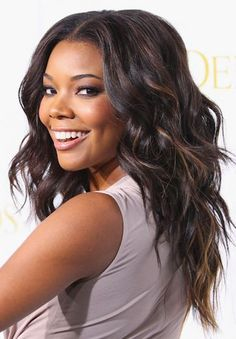 "Gabrielle Union ~ Her mega-watt smile and smooth skin are among her beauty assets. Most known for: ""Bring It On,"" CBS drama ""City of Angels"" Husband: Chris Howard, currently linked with Miami Heat's Dwyane Wade Easy Beach Hairstyles, African Hairstyles, Celebrity Hairstyles, Straight Hairstyles, Wedding Hairstyles, Girl Hairstyles, Party Hairstyles, Formal Hairstyles, Black Hairstyles"
