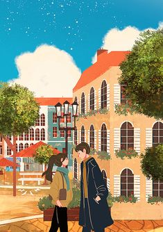Digital art couple love 16 ideas for 2019 - illustrations Couple Illustration, Illustration Art, Illustrations, Stock Design, Cover Wattpad, Cute Couple Art, Korean Art, Anime Art Girl, Aesthetic Art