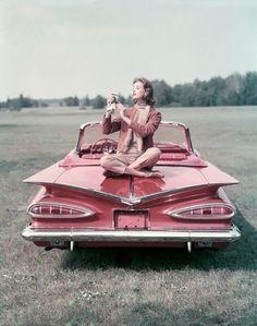 vintage pink car advertisement......