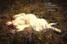 """So full of dreams""- Eniko Mihalik by Ellen von Unwerth for Vogue Italia July 2012"