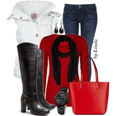 """Winter Outfit"" by lindakol on Polyvore"