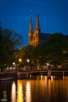 vision board..... place to earn a passport stamp........Amsterdam by Night, Holland