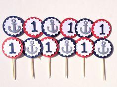 Nautical Cupcake, Nautical Party, Cake Decorations, Birthday Decorations, Sailor Party, Cupcake Party, Cupcake Toppers, Cupcakes, Etsy