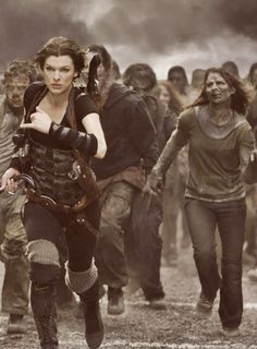 Alice n' Zombies...follow the leader...Resident Evil