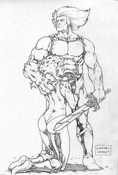 Lion-O and Cheetara by lorkalt on DeviantArt Favorite Cartoon Character, Comic Character, Fantasy Warrior, Fantasy Art, Comic Books Art, Comic Art, Drawing Superheroes, He Man Thundercats, Thundercats Cartoon
