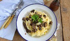 Ζυμαρικά με μανιτάρια, λεμόνι και σκόρδο
