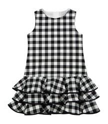 View The Check Ruffle Dress - Diy Crafts Girls Frock Design, Kids Frocks Design, Baby Frocks Designs, Baby Dress Design, African Dresses For Kids, Little Girl Dresses, Girls Dresses, Kids Dress Wear, Kids Gown