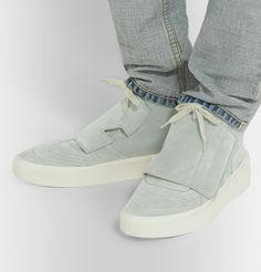 Fear Of God Brushed-suede High-top Sneakers In High Fashion, Mens Fashion, High Tops, High Top Sneakers, Lace Up, Footwear, God, Shopping, Shoes