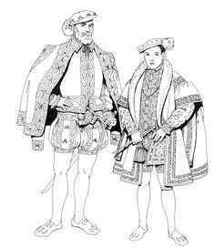 Personnages Renaissance, fin XVI