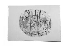 Beispielbild von einer 4-jährigen gezeichnet und radiert. Ein wunderschönes Resultat! Collage, Paper, Old Magazines, Mom And Dad, Ballpoint Pen, Sketches, Artworks, Painting Art, To Draw