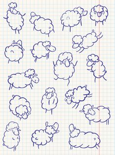 Illustration about Doodle sheep set, hand-drawn illustration. Illustration of doodle, illustration, nature - 13451195 Doodle Drawings, Easy Drawings, Doodle Art, Bible Crafts, Bible Art, Sheep Logo, Sheep Drawing, Sheep Illustration, Sheep Tattoo