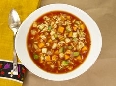 Rustic Fall Vegetable Soup from CookingChannelTV.com