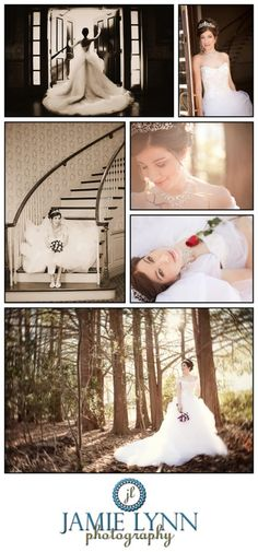 Fairy tale bridal session at Magnolia Manor. Images by Jamie Lynn Photography. www.magnolia-manor.com. {indoor & outdoor bridal portraits}