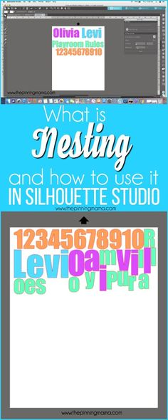 What is Nesting and how to use it Silhouette Studio {Silhouette Bootcamp Lesson 13} Silhouette Cameo 2, Silhouette Cameo Tutorials, Silhouette School, Silhouette Cutter, Silhouette Portrait, Silhouette Machine, Silhouette Projects, Silhouette Design Studio, Silhouette America