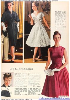 1960 Sears Fall Winter Catalog, Page 54 - Christmas Catalogs Holiday Wishbooks 1960s Fashion Women, Retro Fashion, Vintage Fashion, Women's Fashion, Vintage Style Dresses, 50s Dresses, Vintage Outfits, Pantyhose Outfits, 20th Century Fashion