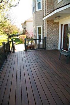 Image Result For Dark Stained Deck