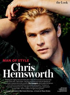 Chris Hemsworth, InStyle, May 2012 -- Man of Style