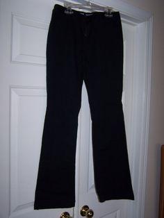 Mossimo Women's 7 Slim Jeans Black Stretch Flare Bottom Lowrise Boot Cut #Mossimo #BootCutFlareSlimSkinny