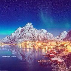 A beautiful winter night in Lofoten Islands, Norway ✨✨ picture by ✨✨@danielkordan✨✨ Good night all  #Padgram