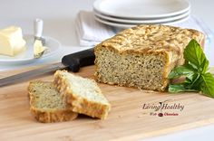 Savory Pesto Parmesan Bread (gluten & grain free...uses almond flour, flax meal & arrowroot powder).  I LOVE this bread!!!