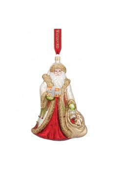 Waterford 2015 Holiday Heirlooms Nostalgic Special Delivery Santa Ornament.  At WWRD in San Marcos, TX or call 1-800-203-4540 or 512-396-4025.  We ship.