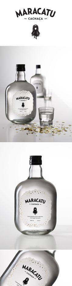 Maracatu Cachaça Packaging Design for a sugary whimsical handcrafted liquor