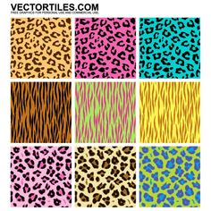 free vector leopard-cheetah-tiger-patterns