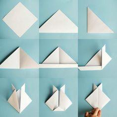 comment fabriquer un lapin origami étape par étape