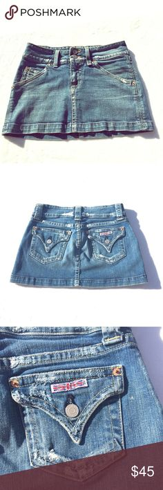 "🌸Hudson - Distressed Denim Mini Skirt 14"" waist, 11"" length Hudson Jeans Skirts Mini"